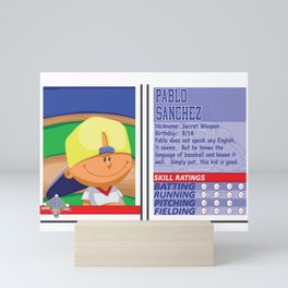 Pablo Sanchez Stat Card -Backyard Baseball Mini Art Print