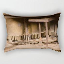 Gears in antique clocks Rectangular Pillow