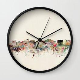 madison skyline Wall Clock