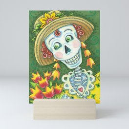 TULIPS DIVINE Spring Skeleton Mini Art Print