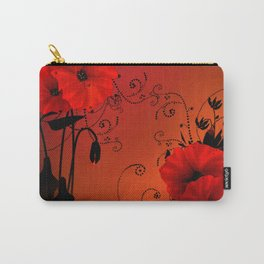 Poppy flowers, sunset Carry-All Pouch