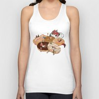 doughnut Tank Tops featuring Doughnut Selection by Stephen Sharpe