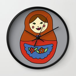 1 Matroyshka Doll Wall Clock