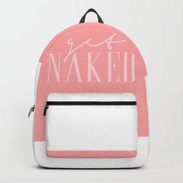 Get Naked pink2 Backpack