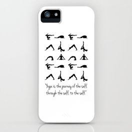 YOGA QUOTES iPhone Case