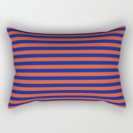 Florida Team Colors Stripes Rectangular Pillow