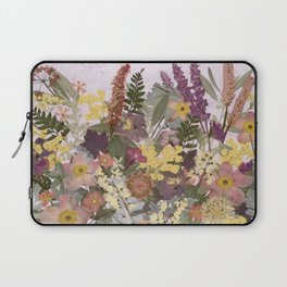Pressed Flower English Garden Laptop Sleeve