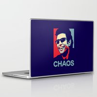 jurassic park Laptop & iPad Skins featuring 'Chaos' Ian Malcolm (Jurassic Park) by Tabner's