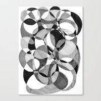 doodle Canvas Prints featuring Doodle by DeMoose_Art