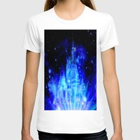 castle in the sky T-shirts featuring Enchanted Castle by WhimsyRomance&Fun