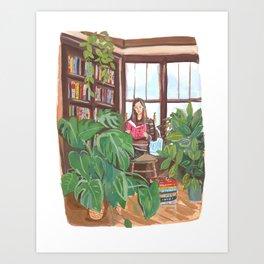 Quarantine BookClub: Emily Art Print