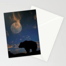 Bear and Moon Stationery Cards