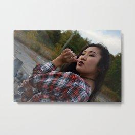 Her Lips Metal Print