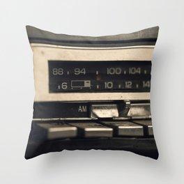 Vintage Car Radio 1 Throw Pillow