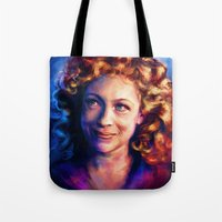 river song Tote Bags featuring River Song by Alice X. Zhang