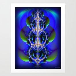 Bubbles fractal 1 Art Print
