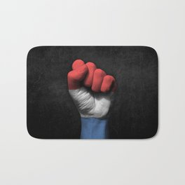 Dutch Flag on a Raised Clenched Fist Bath Mat