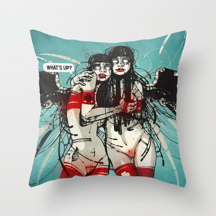 Nymph II: Exclusive Throw Pillow
