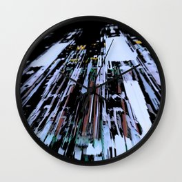 Ghost city Wall Clock