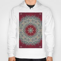 red Hoodies featuring Mandala Nada Brahma  by Elias Zacarias
