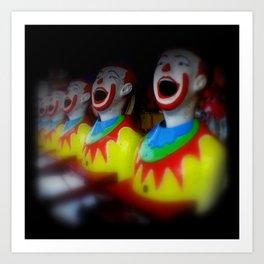 Laughing Clowns Art Print