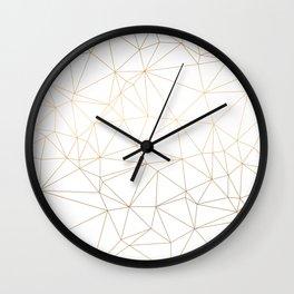Geometric Gold Minimalist Design Wall Clock