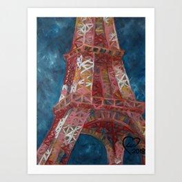 Eiffel Tower by Lu Art Print