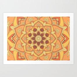 Yoga Henna buddha mandala pattern Art Print