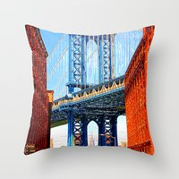 dumbo Throw Pillows featuring Dumbo by Michael Sofronski