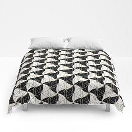 Trinity Pattern Black White Comforters