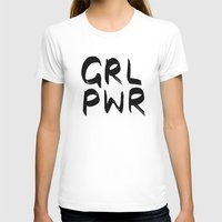 cactei T-shirts featuring GRL PWR  by ☿ cactei ☿