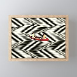 Illusionary Boat Ride Framed Mini Art Print