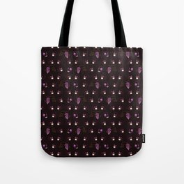 Purple Halloween Skull Pattern Vector Tote Bag