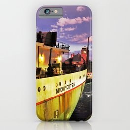 Sunset Freighter iPhone Case