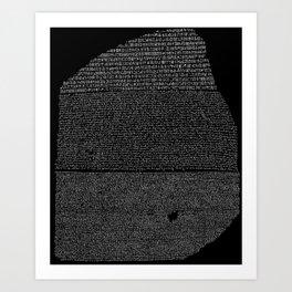 Pierre de Rosette  / Rosetta Stone Art Print