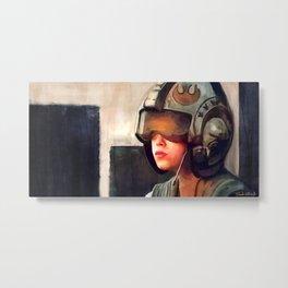 Rey And The Rebel Helmet Metal Print