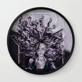 Crazy Alien Hair Girl Wall Clock