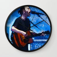 radiohead Wall Clocks featuring Radiohead / Thom Yorke by JR van Kampen