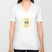 bows V-neck T-shirts featuring Vintage Bows Part 5 by Ambers Illustration
