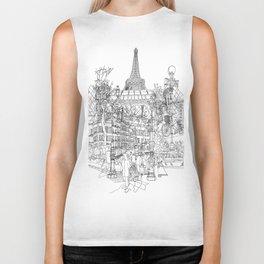 Paris! B&W Biker Tank
