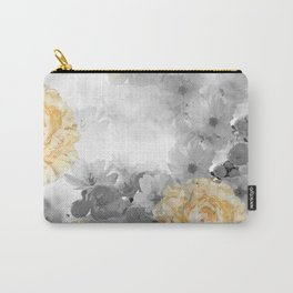 CHERRY BLOSSOMS AND YELLOW ROSES Carry-All Pouch