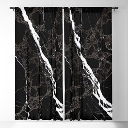 Abstract black white gray modern marble Blackout Curtain