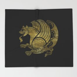 Simurg -Senvurv -Senmurgh Throw Blanket
