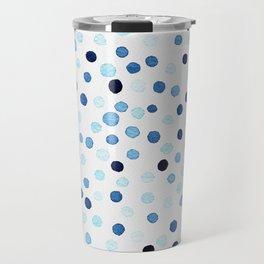 New confetti dots in blue Travel Mug