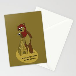 I Enjoy Long Ewoks on the Beach Stationery Cards