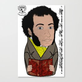 Alexandr Pushkin Matryoshka/Nesting Doll   А. С. Пушкин Матрешка Canvas Print