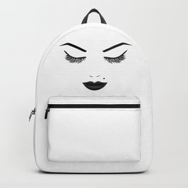 Black Lips Beauty Face Backpack