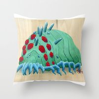 nausicaa Throw Pillows featuring crystal ohmu by terastar