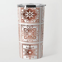 Talavera Mexican Tile – Rose Gold Palette Travel Mug