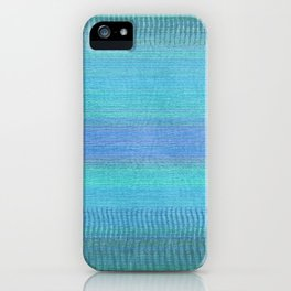 Woven Wonders Blue iPhone Case